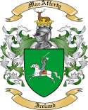 MacAfferty Family Crest from Ireland