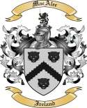 MacAlee Family Crest from Ireland