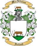 MacAlinion Family Crest from Ireland
