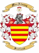 MacAloney Family Crest from Scotland