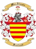 MacAlonie Family Coat of Arms from Scotland