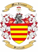 MacAlooni Family Crest from Scotland
