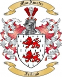 MacAmster Family Crest from Ireland