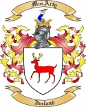 MacArty Family Crest from Ireland