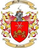 MacBrennan Family Crest from Ireland