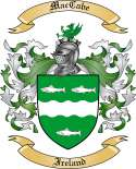 MacCabe Family Crest from Ireland