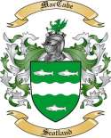 MacCabe Family Crest from Scotland