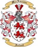 Mac Amaster Family Crest from Ireland