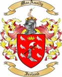 Mac Anally Family Crest from Ireland