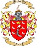 Mac Anally Family Crest from Ireland