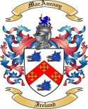 Mac Aneany Family Crest from Ireland