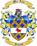 Mac Ann Family Crest from Ireland