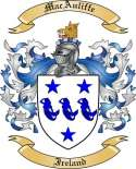 Mac Auliffe Family Crest from Ireland