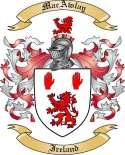 Mac Awlay Family Crest from Ireland