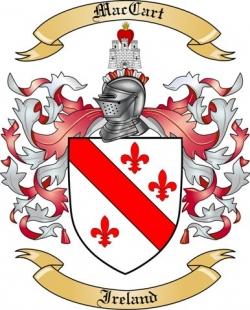 Mac Cart Family Crest from Ireland