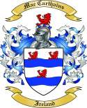 Mac Carthains Family Crest from Ireland