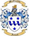 Mac Cauliffe Family Crest from Ireland