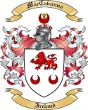 Mac Cavanna Family Crest from Ireland