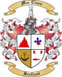 Mac Cluen Family Crest from Scotland