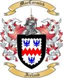 Mac Cormick Family Coat of Arms from Ireland