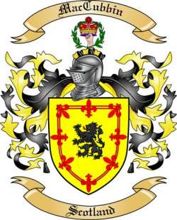Mac Cubbin Family Coat of Arms from Scotland