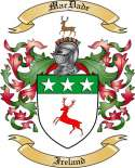 Mac Dade Family Crest from Ireland