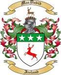 Mac David Family Coat of Arms from Ireland