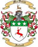 Mac Devitt Family Crest from Ireland