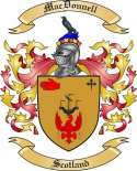 Mac Donnell Family Coat of Arms from Scotland