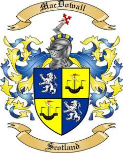 Mac Dowall Family Coat of Arms from Scotland