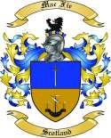 Mac Fie Family Coat of Arms from Scotland