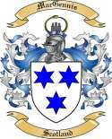 Mac Gennis Family Crest from Scotland