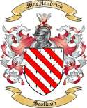 Mac Hendrick Family Coat of Arms from Scotland