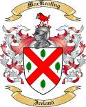 Mac Keating Family Crest from Ireland