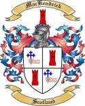 Mac Kendrick Family Crest from Scotland2