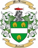 Mac Kenna Family Crest from Ireland