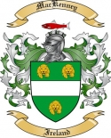 Mac Kenney Family Crest from Ireland