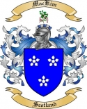 Mac Kim Family Coat of Arms from Scotland