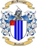 Mac Knaught Family Crest from Scotland