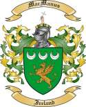 Mac Manus Family Crest from Ireland