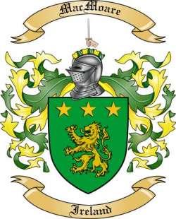 Mac Moare Family Crest from Ireland