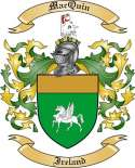 Mac Quin Family Crest from Ireland