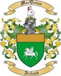 Mac Quinn Family Crest from Ireland