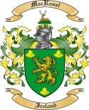 Mac Ranel Family Crest from Ireland