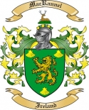 Mac Rannel Family Crest from Ireland