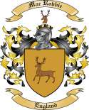 Mac Robbie Family Coat of Arms from England