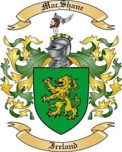 Mac Shane Family Coat of Arms from Ireland
