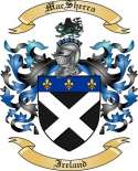 Mac Sherra Family Crest from Ireland