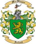 Mac Sheyne Family Crest from Ireland