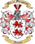 Mac an Mhaighistir Family Crest from Ireland